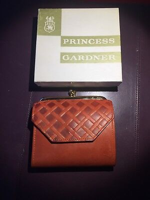 Vintage PRINCESS GARDNER Lambskin Leather Women's Wallet & Coin Purse NOS w/ Box