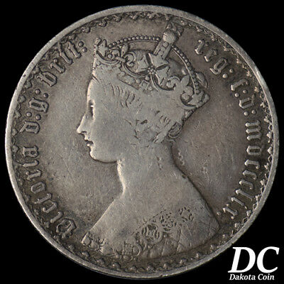 Great Britain 1859 One Florin ~ KM#746.1
