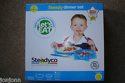 SteadyCo Dinner 5 Piece Set, Red or Yellow, Brand New in BOX,   BEST £ ON EBAY