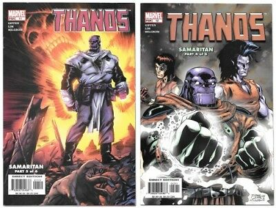 Thanos #11 & #12 VF/NM 2004 Marvel Comics 1st Fallen One Samaritan Galactus 2003