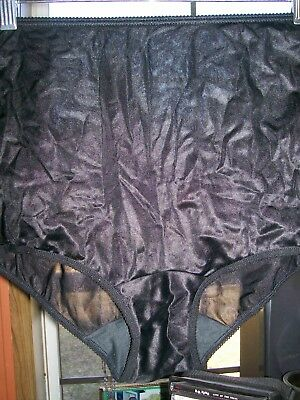 Vintage Panties Panty See Through Sheer Black Nylon Usa Maidenform 5 Granny Styl