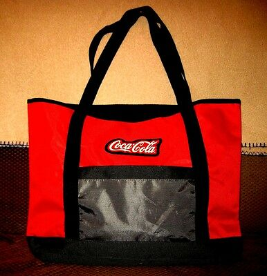 Large COCA COLA Reusable COKE Shopper Tote Bag Pool, Picnic, Groceries Carry All