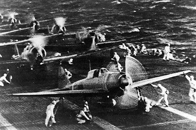 New 5x7 World War II Photo: Japanese Aircraft Prepare for Pearl Harbor Attack