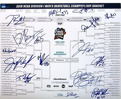 7eed3c5df15 2018 VILLANOVA WILDCATS TEAM SIGNED AUTOGRAPHED 16x20 BRACKET PHOTO w COA  FINALS