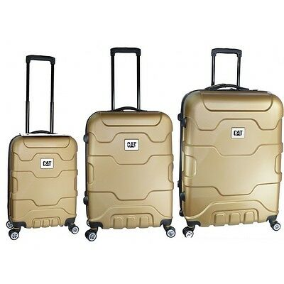 CAT Caterpillar Roll Cage Suit Case Set - GOLD NESTED 3-PACK