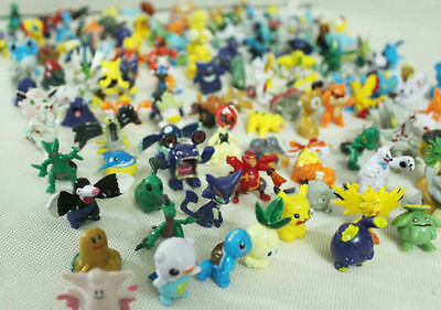 A Lot 144pcs Stück Pokemon Monster Mini figuren 2-3cm in Zufalls neu