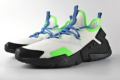 size 40 fedab 826c7 New Mens Nike Air Huarache Drift Shoes White Blue Green Black Ah7334 102