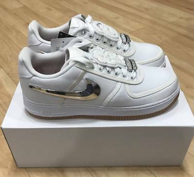 meet 7eedb 84a9c Nike Air Force 1 Low Travis Scott Size White AQ4211-100 AF100 Size 10  Authentic