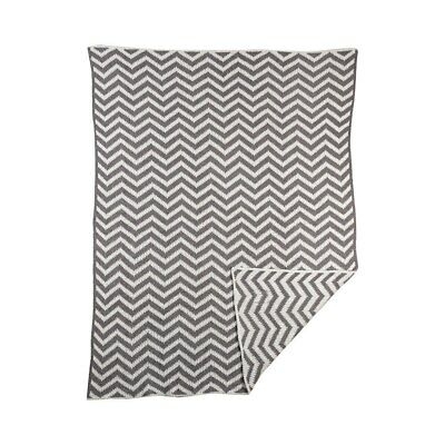 NEW The Living Textiles Chevron Knitted Blanket from Baby Barn Discounts