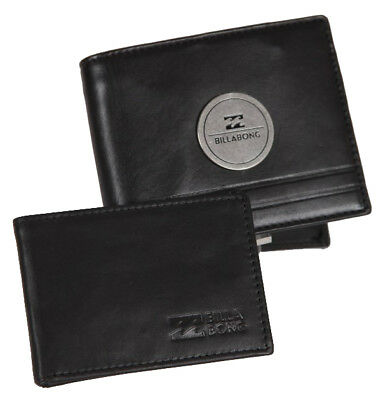 Wallet Leather Billabong Black New S Mens 2 1 Gift New Men Radius Rrp 60 Tags
