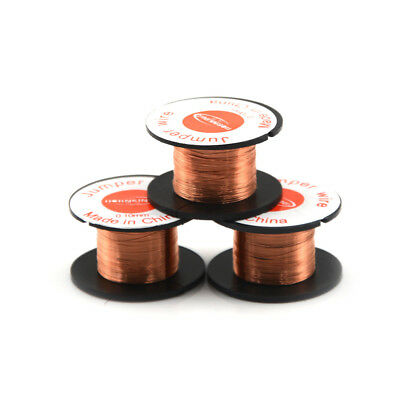 3 Roll Magnet Wire AWG Gauge Enameled Copper Coil Winding 0.1mm Fast PFT