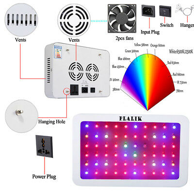 600W Double Chip Full Spectrum LED Grow Light Hydroponic Light Plant Lamp Panel