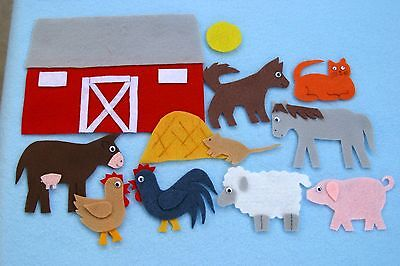 """Big Red Barn"" Children story felt/ flannel board set"