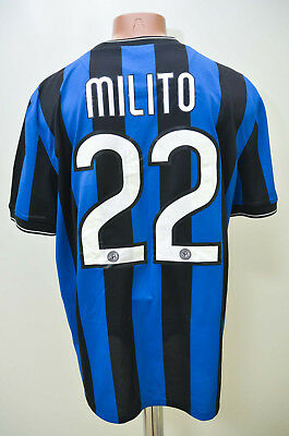 Inter Milan Italy 2009/2010 Home Football Shirt Jersey Maglia Nike Milito #22