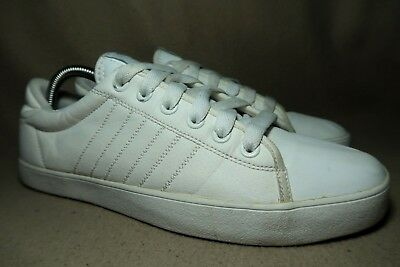 release date: 7f698 61742 ADIDAS White Leather Mens Casual Trainers UK 8EU 42