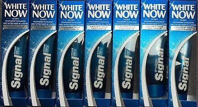 Lot de 7 tubes de dentifrice SIGNAL WHITE NOW