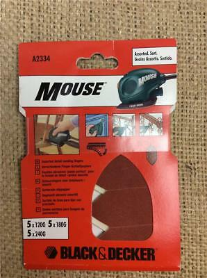 Clearance Lot311 Black & Decker Quick Fit Assorted Mouse Detail Sanding Fingers