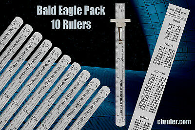 OFFICIAL C*NT HAIR RULER  -  BALD EAGLE (10) PACK - For the serious contractor!