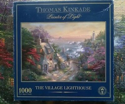 1000 Piece Thomas Kinkade Jigsaw Puzzle The Village Lighthouse