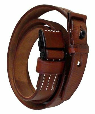 WWII GERMAN K98 98K RIFLE LEATHER RIFLE CARRY SLING Brown Gift Mauser New Rep