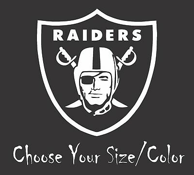 Oakland raiders football vinyl decal sticker for car truck window yeti rtic