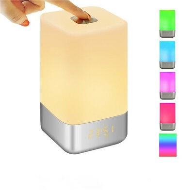 SOLMORE Touch Sensor Multicolor Dimmable LED Night Light Wake Up Table Light wit