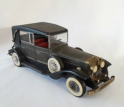 ANTIQUE MODEL CAR TRANSISTOR RADIO Lincoln HONG KONG 9 Volt Battery WORKS vtg