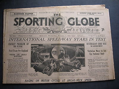 Sporting Globe   1 FEB 1933 International Speedway