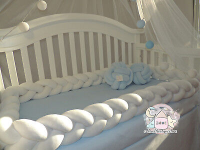 Braided Crib Bumpers,Nursery  Baby bedding,bumpers,Knot,Kids Room decor,Bedding