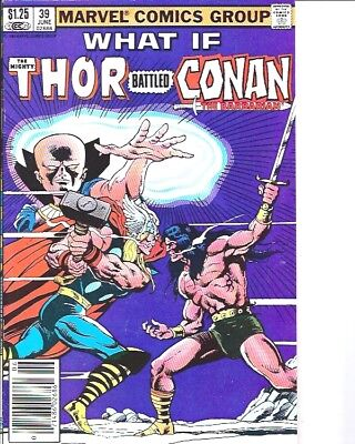 What If? #39 (Jun 1983, Marvel) Thor vs Conan Canadian Newstand Price Variant