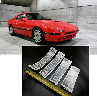 2x Lowered car outline stickers for Mazda Rx7 FC Savanna,Turbo GT limited