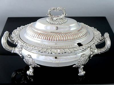GEORGIAN Old Sheffield Plate SILVERPLATE SAUCE TUREEN c.1810 Armorial Stag