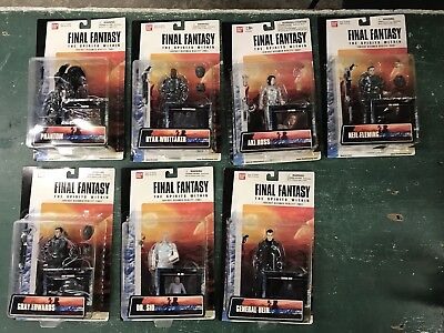 Final Fantasy The Spirits Within Action Figure Collection Lot (7)