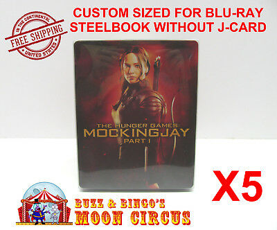 5x BLU-RAY STEELBOOK CLEAR PROTECTIVE SLEEVE - BOX PROTECTORS - NO J-CARD SIZE