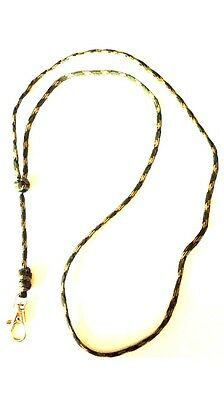 Turks Head Knot Dog Whistle Lanyard, Woodland Camo DPM For Acme Whistle