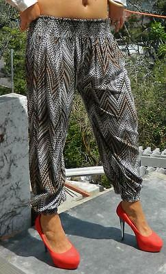 VINTAGE Sweet Girl Tribal Harem Hippie Bohemian Breezy Slouch Pants