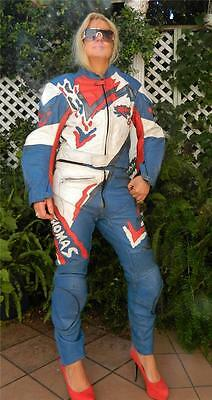 VINTAGE Frank Thomas 1980s Original Raw Edge Motorcycle Biker Leather Suit