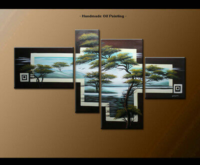 Framed Canvas Wall Art Modern Contemporary Abstract Oil Painting Handmade BS1347
