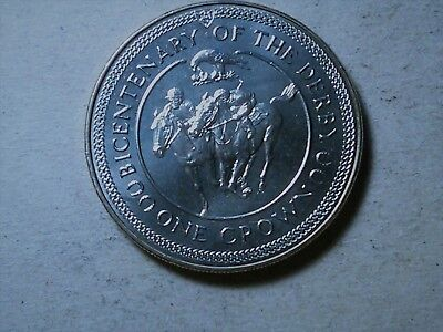 ISLE OF MAN - ONE CROWN 1980  - Bicentenary of the Derby - Elizabeth II