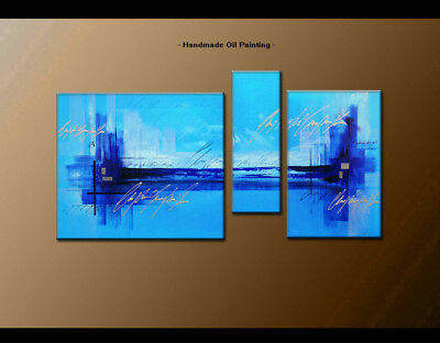 Framed Canvas Wall Art Modern Contemporary Abstract Oil Painting Handmade BS1110