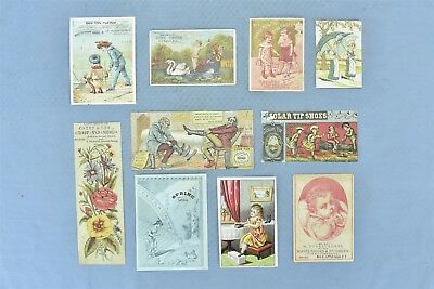 Mixed Lot 10 Advertising Trade Card Shoes Sollers Rosenthal Bon Ton Polish 05295