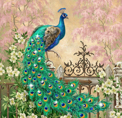 Modern Wall Art Home Decor HD print oil painting Feng Shui Peacock Painting