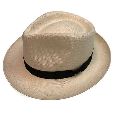 21a1cdef STETSON TOYO FEDORA Trilby Straw Hat Premium Sun Cap MADE IN MEXICO ...