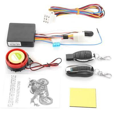 12V Motorcycle Engine Keyless Start Alarm System 125db Remote Control Security