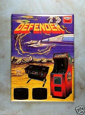 "Vintage Arcade Table Game Ad Fridge Magnet 2 1/2"" x 3 1/2"" Defender Taito 1970's"