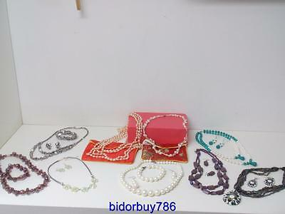 Jewellery Job Lot Fresh water pearls,Munro Glass beads Necklace Earrings Sets
