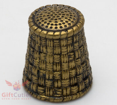 Russian Solid Brass souvenir Thimble IronWork