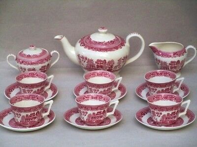 Service A The Faïence Anglaise Victoria Porcelain Tasses Theiere Sucrier Cremier