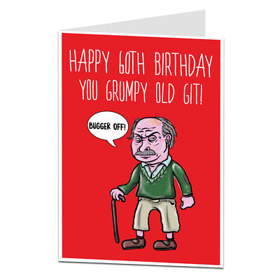 Funny Happy 60th Birthday Card 60 Today Rude Funny Offensive For Men Him Dad!