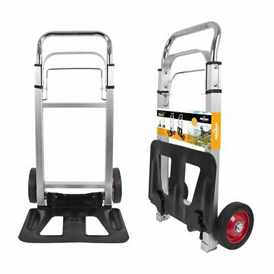 70Kg Aluminium Delivery Trolley Heavy Duty Sack Folding Van Cart Truck